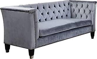 ACME ACME Honor Blue-Gray Velvet Sofa