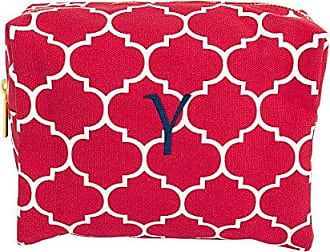 Cathy's Concepts Personalized Moroccan Lattice Cosmetic Bag, Coral, Letter Y