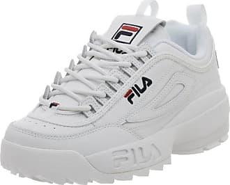 Fila Mens Disruptor II Sneaker,White/Peacoat/Vinred,13 M