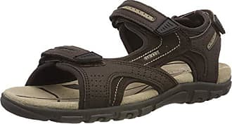 Geox Mens Strada 28 Touring Sandal Sport, Brown/Sand, 44 Medium EU (11 US)