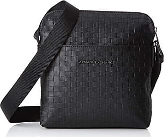 9f0db0c06b Armani Old Logo Crossbody Bag - Borsa Messenger Uomo, Nero (Black Check),