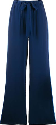 Diane Von Fürstenberg Calça Ellington de crepe de china - Azul