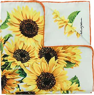 Dolce & Gabbana Lenço Sunflower de seda - Amarelo
