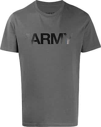 Yves Salomon Army print T-shirt - Grey