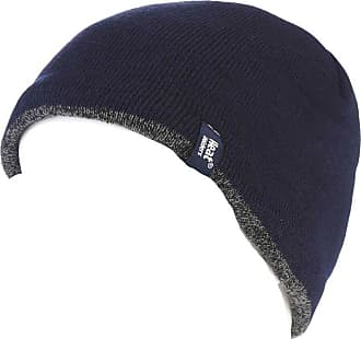 Men/'s Heat Holders Tog Contrast Trim Heat Weaver Winter Warm Thermal Beanie Hat