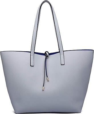 Quirk Women Reversible Contrast Shopper Tote Bag Grey