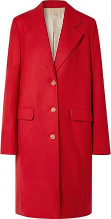 The Row Teymon Oversized Grain De Poudre Wool Coat - Red