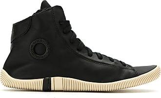 Osklen leather hi-top sneakers - Black