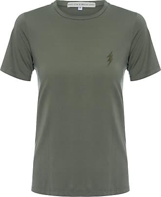 HELENA BORDON Camiseta Raio Bordado - Verde