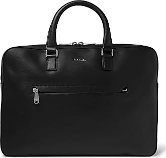 Paul Smith Contrast-tipped Textured-leather Briefcase - Black