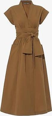 Three Graces London Clarissa Dress in Tan