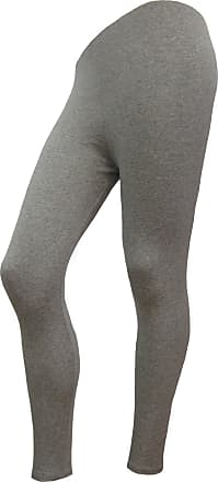LADIES ANKLE LENGTH STRETCH FIT COTTON LEGGING IN BLACK /& GREY COLOURS