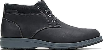 Hush Puppies Mens Beauceron Short ICE+ Ankle Boot, Black wp Leather, 11.5 M US