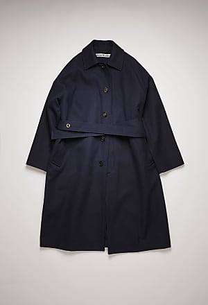 Acne Studios FN-MN-OUTW000432 Navy Oversized twill trench coat