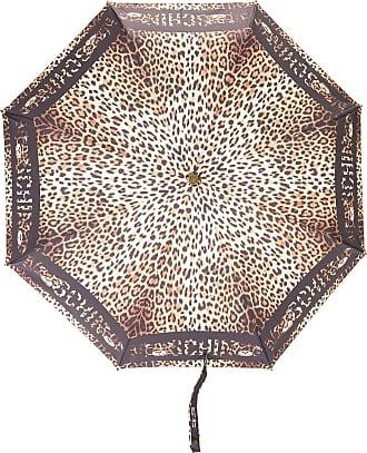 Moschino Ombrello con stampa leopardata - Di colore nero