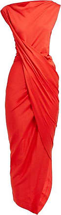 Vivienne Westwood Draped Wrap Jersey Dress - Womens - Red