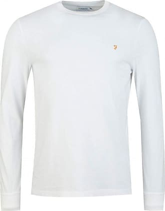 Farah Worth Long Sleeved T-Shirt (Colour : White - Size : Large)
