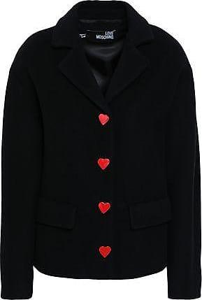 Love Moschino Love Moschino Woman Button-detailed Wool-blend Felt Coat Black Size 40