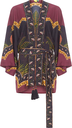 Farm Kimono Onça Delicada - Roxo