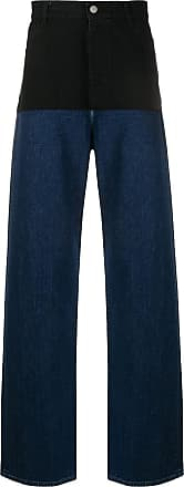 Raf Simons Calça jeans bicolor - Preto