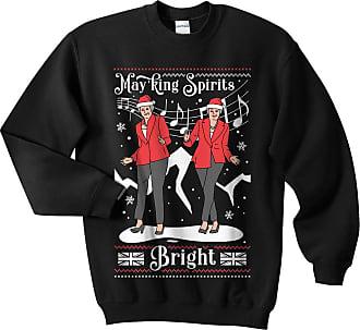 Sanfran Clothing Sanfran - Mayking Spirits Bright Top Christmas Xmas Theresa May Funny Brexit Ugly Jumper Sweater - Double Extra Large/Black