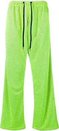 Duo Yellow Mesh Popper Button Nylon Sweat Pants - The Webster