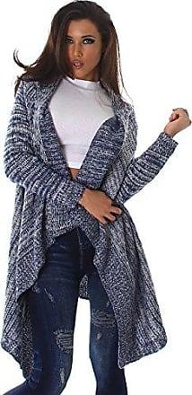Strickjacke langärmelig Jacke Cardigan Oversize Einheitsgröße 36 38 40 blau