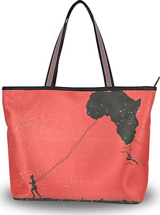 Lorona Women Africa Kenya Kids Peace Flag Kite Canvas Shoulder Hand Bag Large Capacity Tote Bag