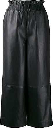 Ganni Calça pantalona de couro - Preto