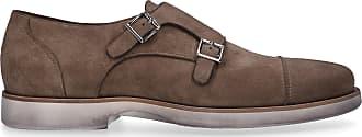Santoni Monk Shoes 16629 suede beige