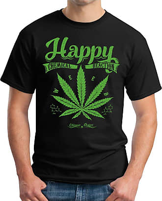 OM3 Happy-Weed - T-Shirt Chemical Reaction Legalize Cannabis Smoke Kush Music Weed Geek, 4XL, Black