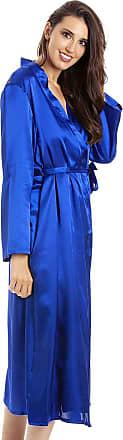 Camille Womens Blue Long Satin Wraps 22/24 Blue