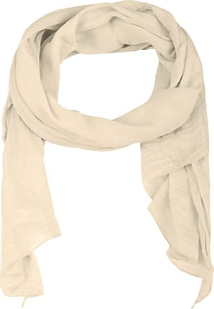 Zwillingsherz silk scarf for women, girls, plain elegant accessory/cotton/silk scarf/neck scarf/shoulder scarf or shawl. - Beige - One size