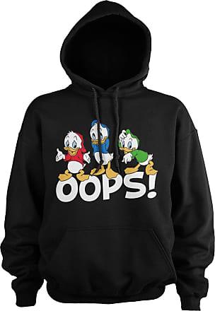 Disney Officially Licensed Huey, Dewey and Louie - OOPS Hoodie (Black), Medium