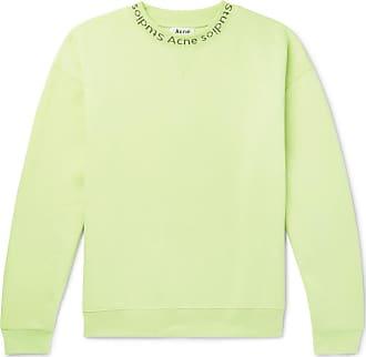 Acne Studios Flogho Logo-print Fleece-back Cotton-jersey Sweatshirt - Green
