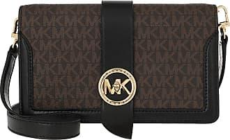 Michael Kors Charm MD Triple Gsst Crossbody Bag Brown Black
