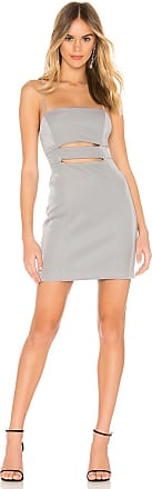 BCBGeneration Cutout Bodycon Dress in Metallic Silver