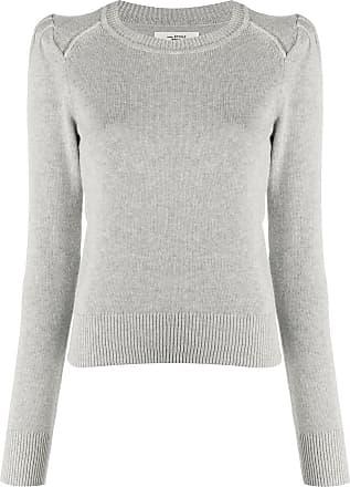 Isabel Marant Suéter canelado decote careca - Cinza