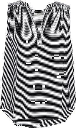 b9d3d114a1610f Joie Joie Woman Kotahi Striped Crepe Top Black Size XS