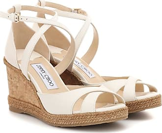 Jimmy Choo London Alanah 80 leather wedge sandals