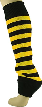 MySocks Leg Warmers Striped Yellow Black