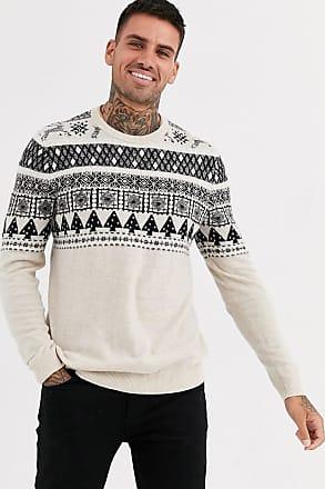 Asos maglione natalizio a collo alto in stile fair isle vintage multicolore asos bianco jeans