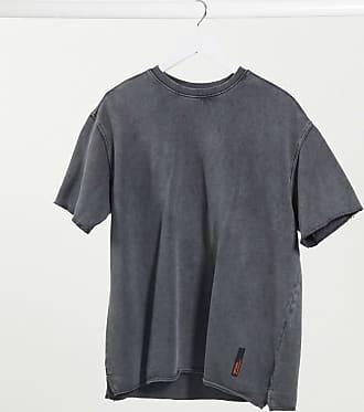Bershka T-Shirt in verwaschem Grau