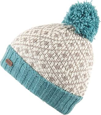 KuSan 100% Wool Fleur de Lis Bobble Hat PK1903 (Aqua)