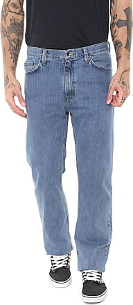 Vans Calça Jeans Vans Reta Mn V96 Relaxed Stnwsh Azul