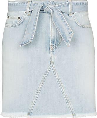 Givenchy Minissaia jeans com cinto - Azul