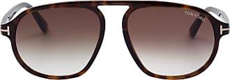 Tom Ford Eyewear Óculos de Sol Aviador Tartaruga - Mulher - Marrom - 57 US