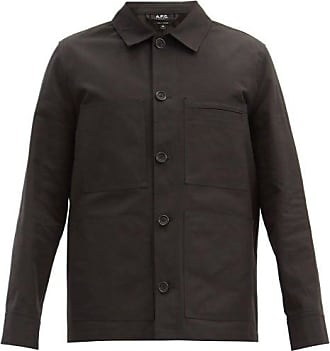 A.P.C. Andre Cotton-canvas Jacket - Mens - Black