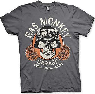 Gas Monkey Garage Officially Licensed Skull Mens T-Shirt (Darkgrey), XX-Large