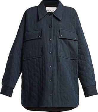 Raey Oversize Quilted Denim Jacket - Womens - Indigo